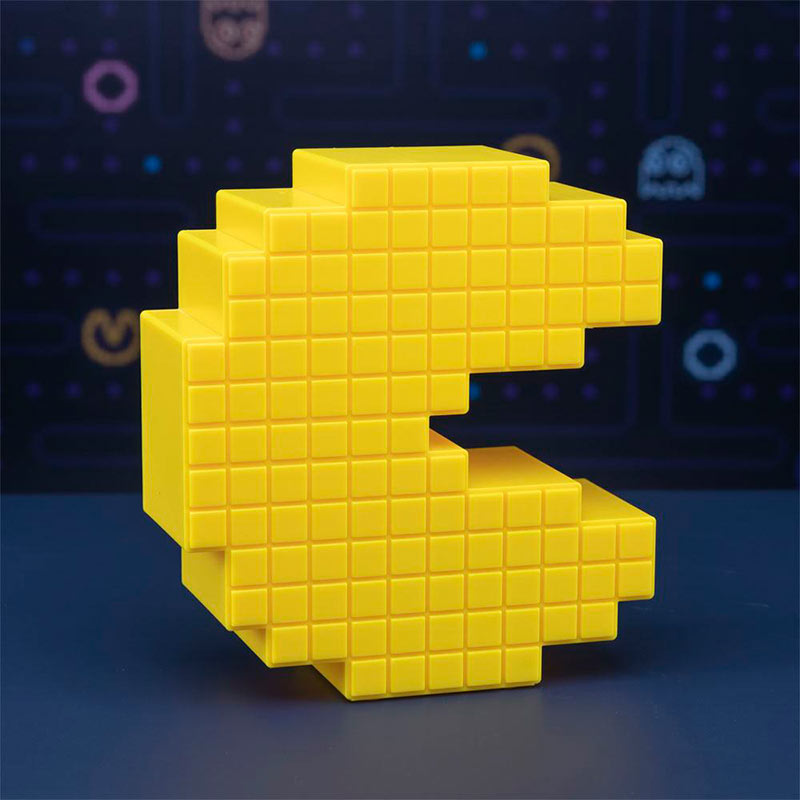 Lámpara 3D Pixel Pac-Man 15 cm. Paladone Products