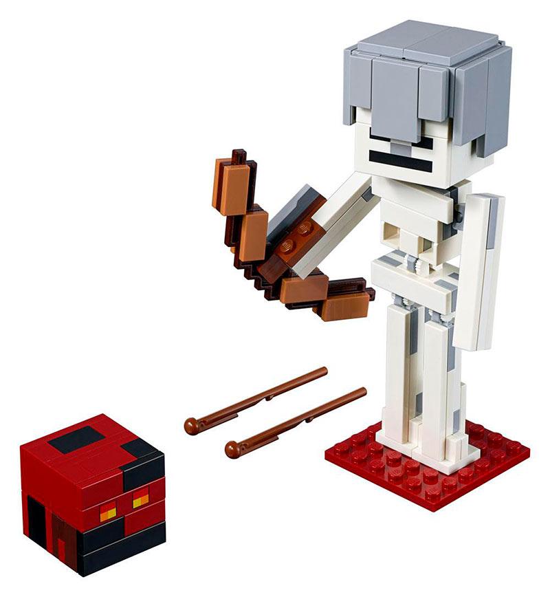 LEGO BigFig Series 1: Esqueleto con Cubo de Magma. Minecraft. 21150