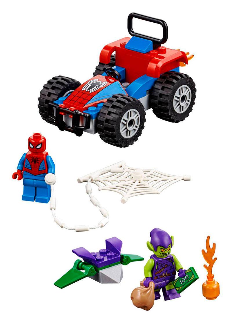 LEGO Marvel Super Heroes. Persecución en Coche de Spiderman. 76133