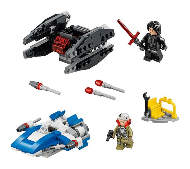 Lego Microfighters Ala-A vs. Silenciador TIE. Star Wars: Episodio VIII. Nº 75196