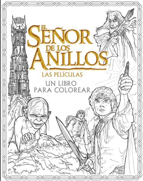Libro El Señor de los Anillos. Las películas. Un libro para colorear ...