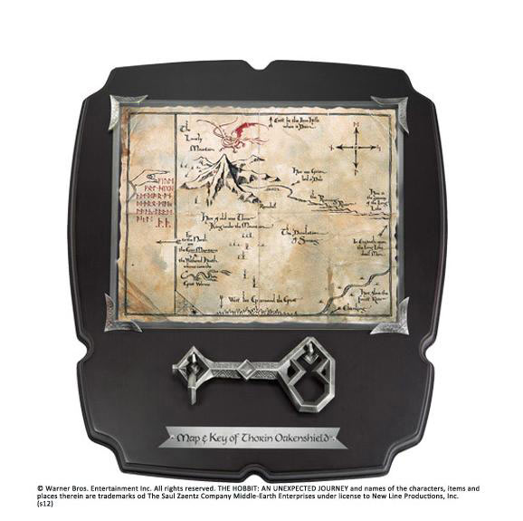 Llave con Mapa El Hobbit. Erebor