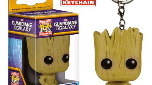 Llavero Groot 4 cm. Guardianes de la Galaxia. Línea POP! Pocket. Funko