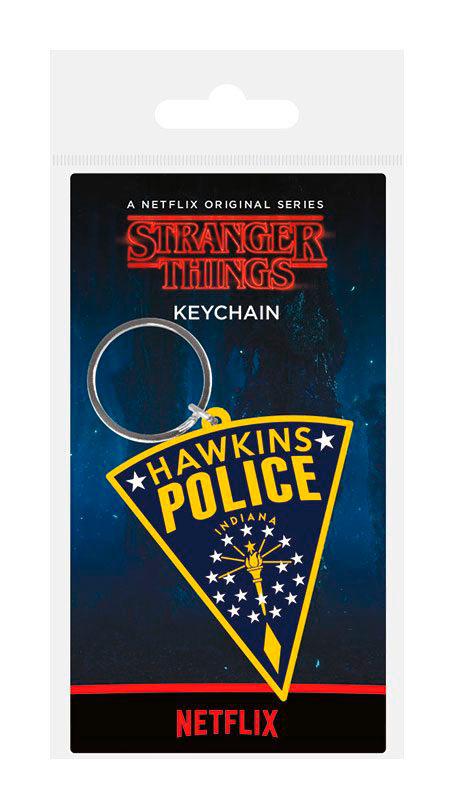Llavero caucho Hawkins Police 6 cm. Stranger Things