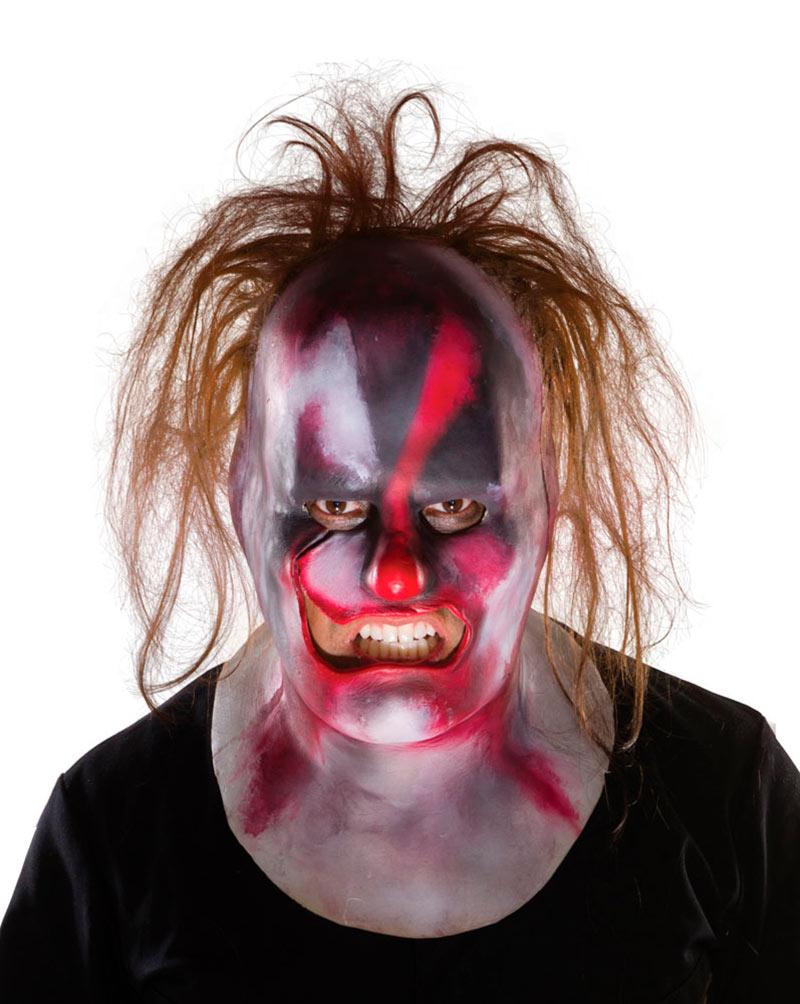 Máscara Shawn Crahan (Clown with Hair) de vinilo. Banda Slipknot. Rubies