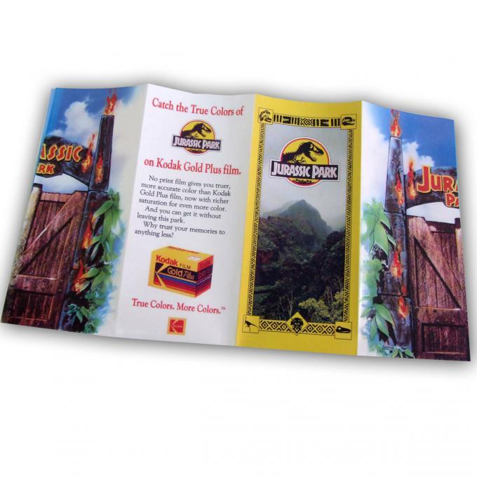 Mapa folleto Jurassic Park (Parque Jurásico). 32x29 cm.