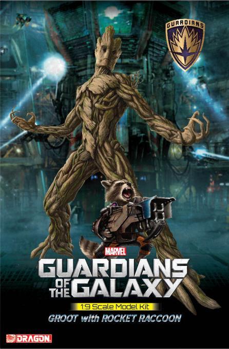 Maqueta Groot & Rocket Raccoon 20 cm. Guardianes de la Galaxia. Dragon Models