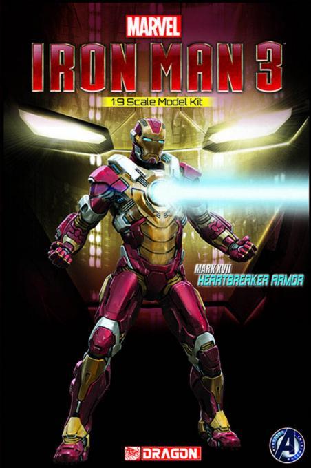 Maqueta Mark XVII Heartbreaker Armor de 20 cm. Iron Man 3. Dragon Models