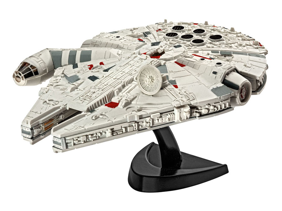 Maqueta Millennium Falcon 10 cm. Star Wars Episodio VII. Sin pintar. Revell