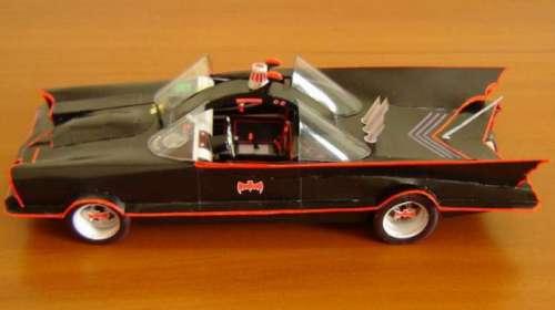 Maqueta de papel Batmobile 1966. Batman