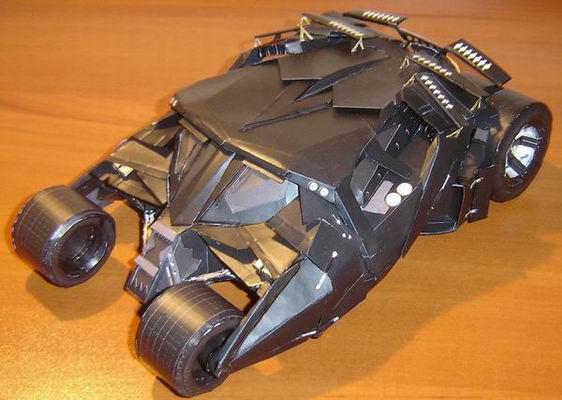 Maqueta de papel Batmobile