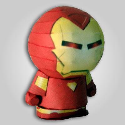 Maqueta de papel Figura Iron Man