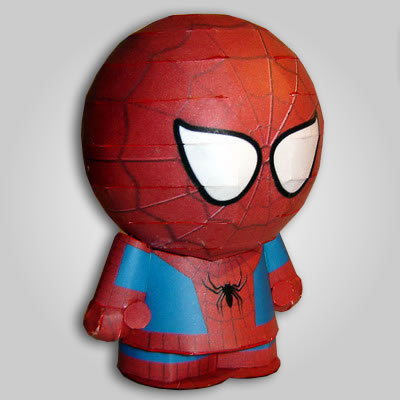 Maqueta de papel Figura Spiderman