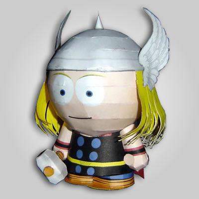 Maqueta de papel Figura Thor