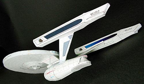 Maqueta de papel Nave 1701-A. Star Trek