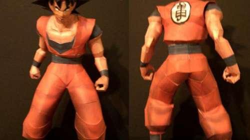 Maqueta de papel Son Goku
