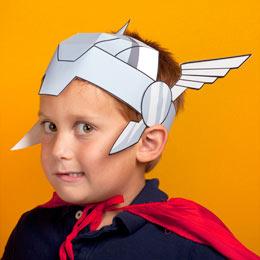 Maqueta de papel casco Thor