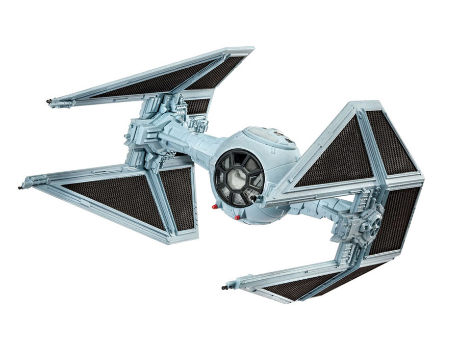Maqueta nave Tie Interceptor 10 cm. Star Wars Episodio VII. Sin pintar. Revell