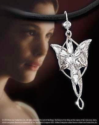 Mini Colgante Arwen El Señor de los Anillos. Plata pura. Noble Collection
