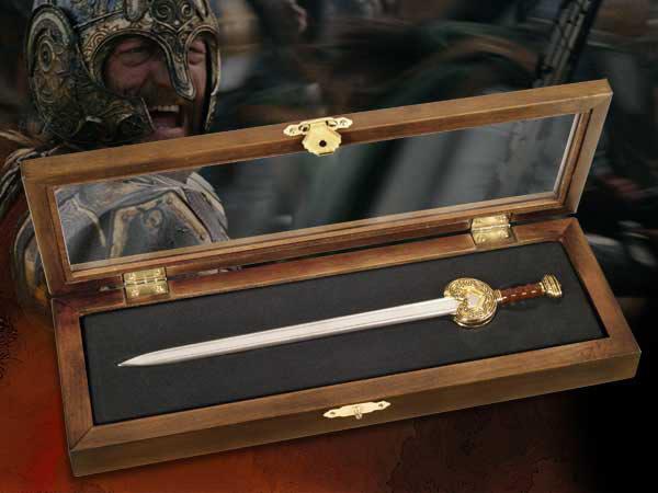 Mini Espada Abrecartas El Señor de los Anillos. Espada Rey Theoden