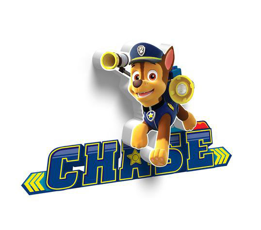 Mini Lámpara de pared 3D Chase. Patrulla Canina