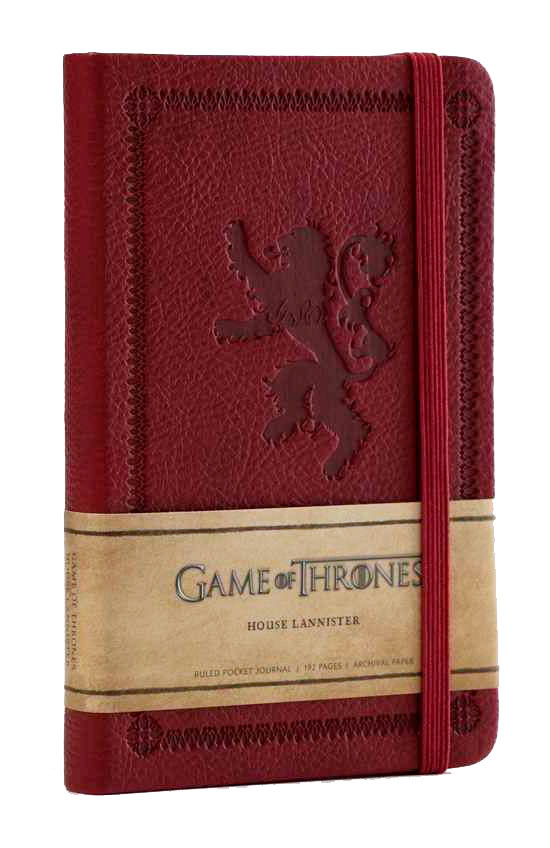 Mini libreta House Lannister Juego de Tronos. Insight Collectibles