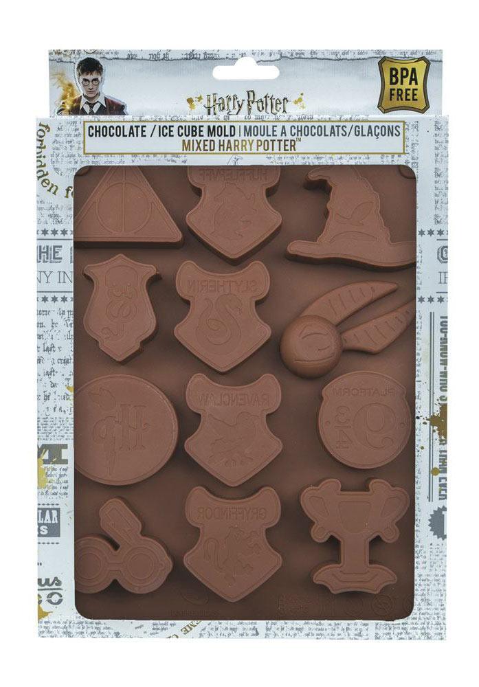 Molde silicona Harry Potter logos para chocolate y cubitos
