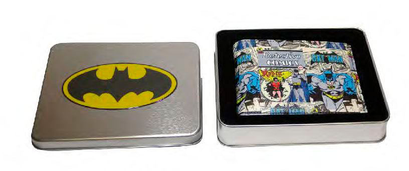 Monedero con lata Batman & Robin. DC Cómics
