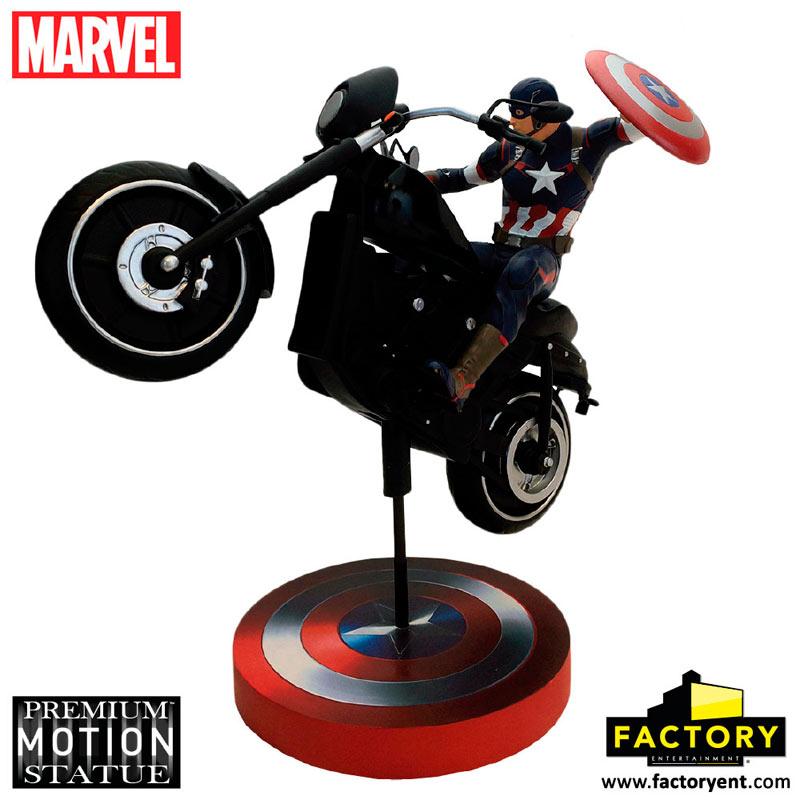 Motocicleta Capitán América 38 cm. Los Vengadores: la era de Ultrón. Premium Motion. Factory Entertainment
