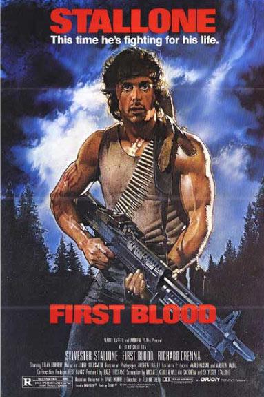 Póster Acorralado. Rambo