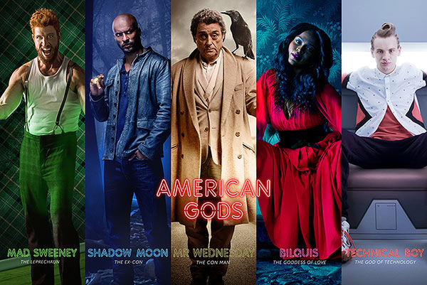 Póster American Gods. Collage