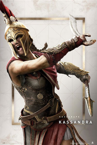 Póster Assassin's Creed Odyssey. Kassandra