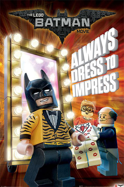 Póster Batman: La Lego Película. Dress to Impress