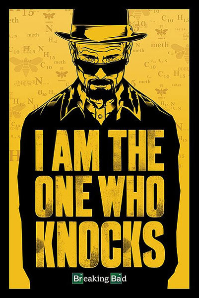 Póster Breaking Bad I am the one who knocks