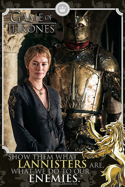 Póster Cersei Lannister. Juego de Tronos