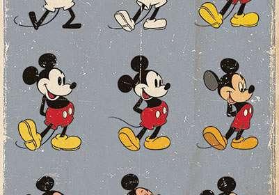 Póster Evolución Mickey Mouse. Disney