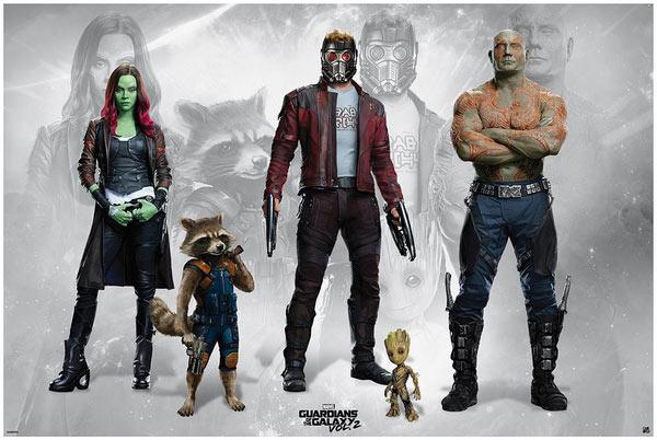 Póster Guardianes de la Galaxia 2. Personajes
