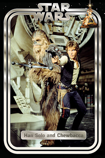 Póster Han Solo y Chewbacca