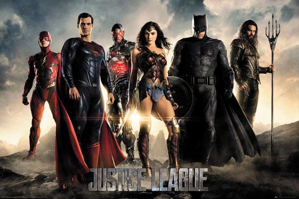 Póster La Liga de la Justicia. Personajes
