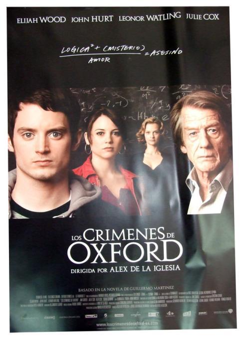Póster Los Crímenes de Oxford
