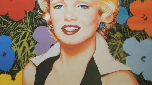 Póster Marilyn Monroe. Flores
