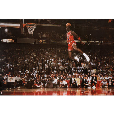 Póster Michael Jordan. Line Dunk