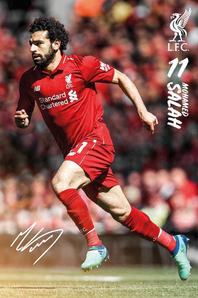Póster Mohamed Salah Liverpool Temporada 2018/2019