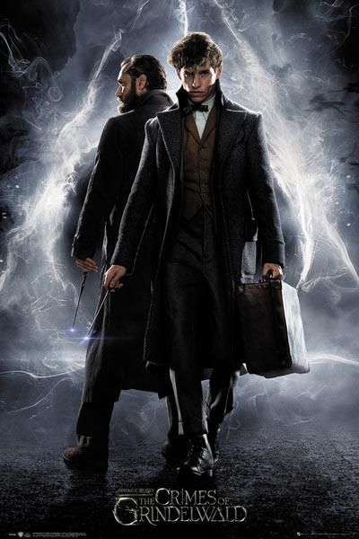 Póster Newt y Dumbledore. Animales Fantásticos y Dónde Encontrarlos: Los Crímenes de Grindelwald