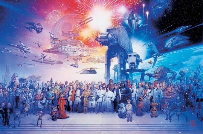 Póster Personajes Star Wars Episodio V