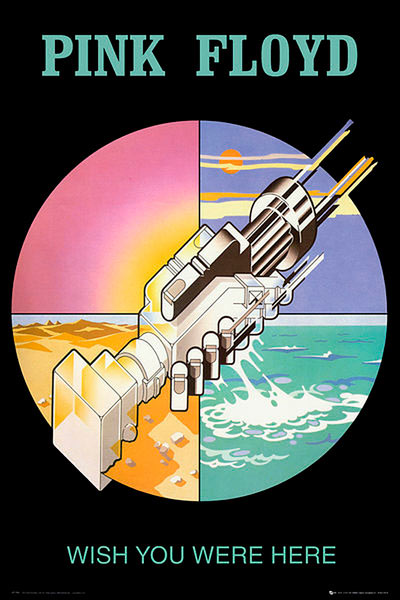 Póster Pink Floyd. Wish you were here