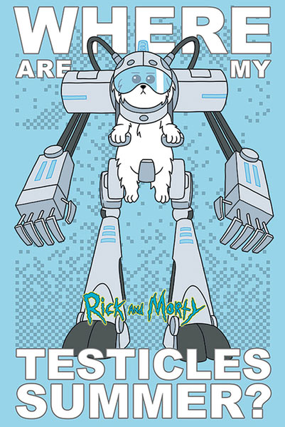 Póster Rick and Morty. Where are my Testicles Summer