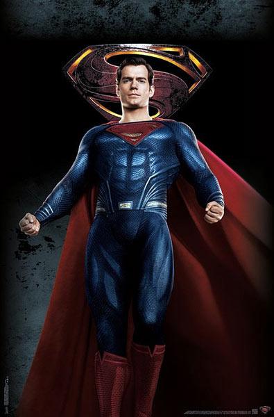 Póster Superman. La Liga de la Justicia