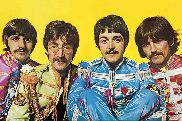 Póster The Beatles. Lonely Hearts Club