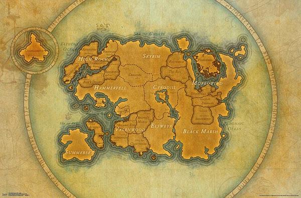 Póster The Elder Scrolls. Mapa